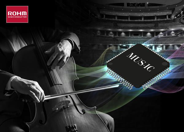 ROHM's MUS-IC™ Series DAC chip enables expressive playback of classical music