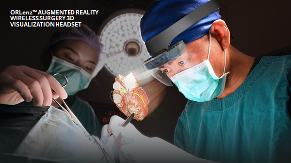 Ocutrz ORLenz Augmented Reality Wireless Surgery 3D Visualization Headset