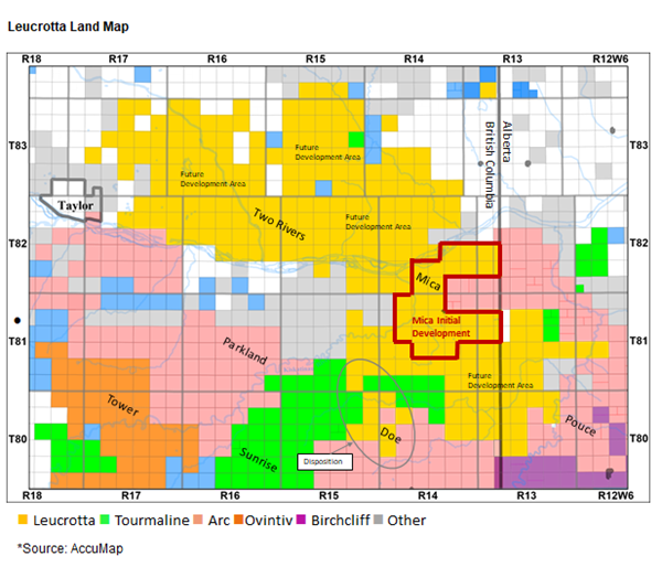 Leucrotta Land Map