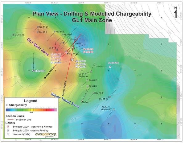 Drilling on Chargeability, GL1 Main Zone