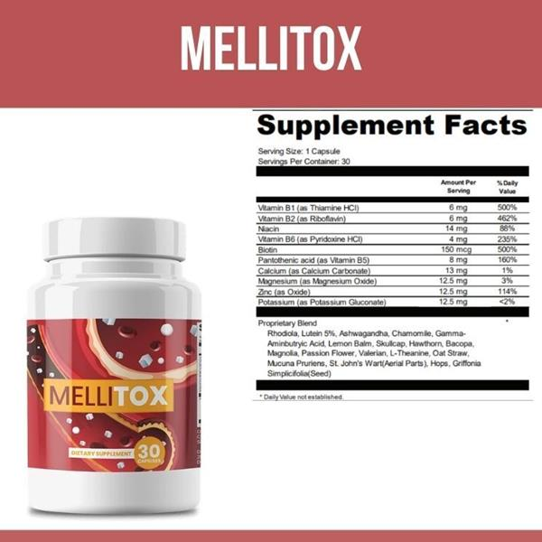 Mellitox is an all-natural supplement that claims to help balance the level of glucose in the body.