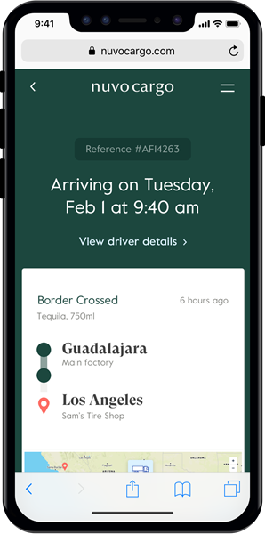Nuvocargo ShipmentTracking_InPhone