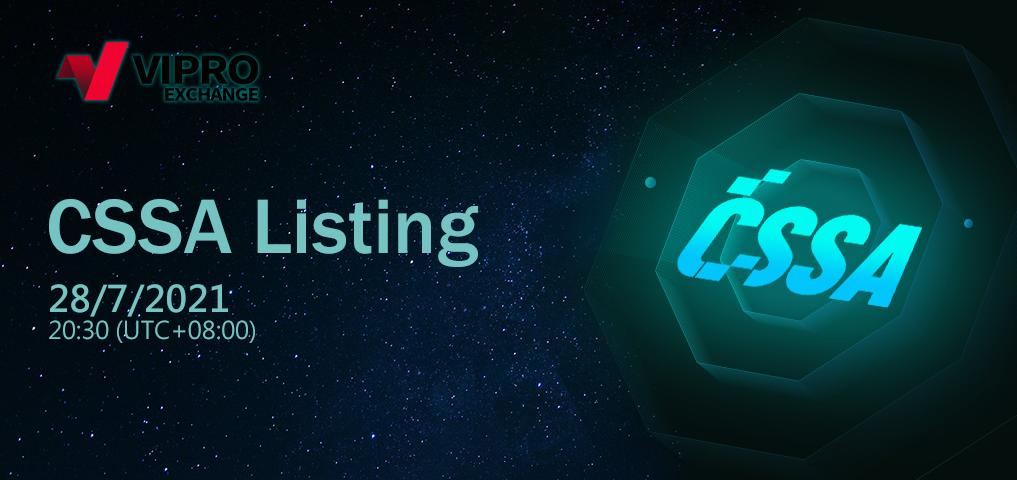 CSSA Token Will be Officially Listed on Viproex Exchange 1