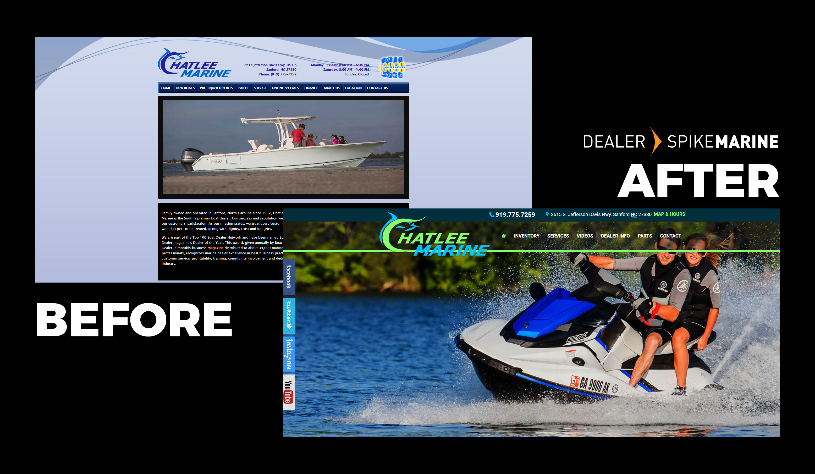 chatlee boat marine dealership website