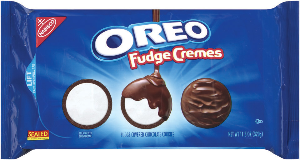Oreo Fudge Cremes, Original variety (11.3 oz package)