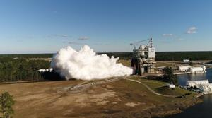 RS-25 Engine Test closer view 2-22-17