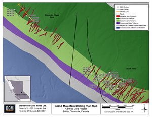Island Mountain Drilling Plan Map