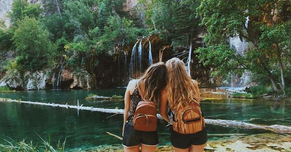 Enjoying Hanging Lake in Glenwood Canyon. One of the many beautiful activities you can plan to do in the Glenwood Springs area when this is all over!