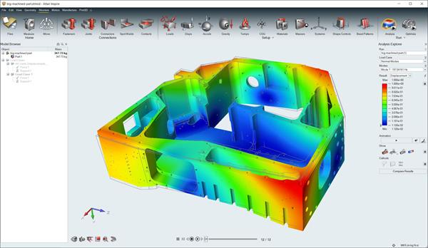 Altair Inspire analyzes complex parts without removing geometrical features