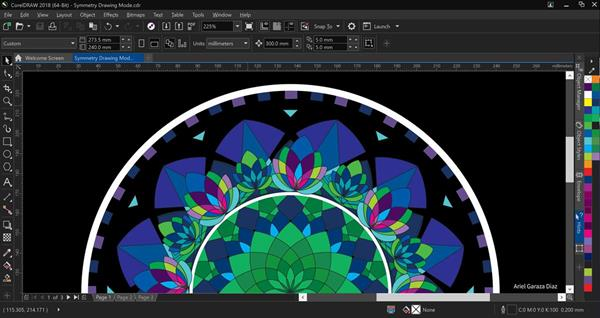 CorelDRAW Graphics Suite 2018 Symmetry Drawing Mode
