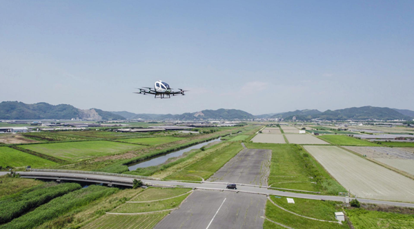 EHang 216 AAV Conducted Trial Flights in Japan