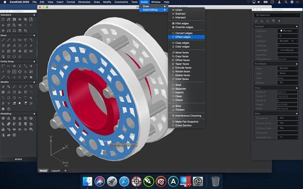 CorelCAD 2020 3D Modeling Offset Convert Edges macOS