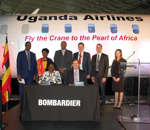 Signing Ceremony with Uganda Airlines at Mirabel