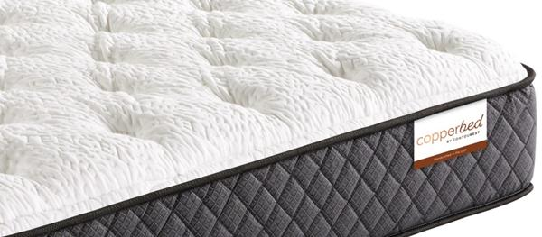 Contourest® Copperbed self-sanitizing antimicrobial and antibacterial mattress line manufactured in the USA exclusively for Guest Supply by Corsicana Mattress Company