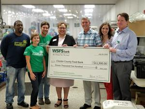 WSFS Bank Representatives Present $11,500 Check to the Chester County Food Bank