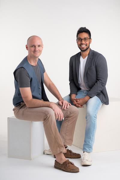 Sai and Max, cofounders of SensorFlow