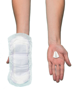 Finess compared to a standard pad