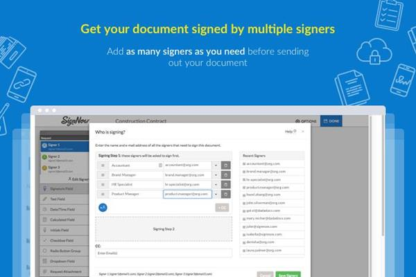 Get documents e-signed by multiple signers in Autodesk BIM 360