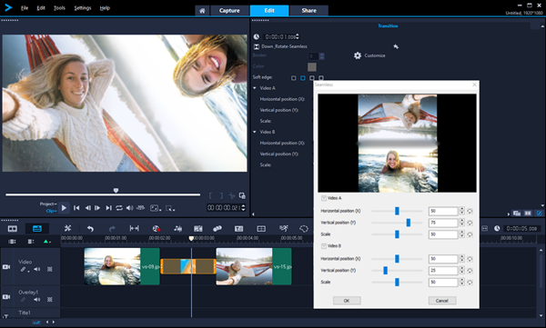 Seamless Transitions in VideoStudio 2019