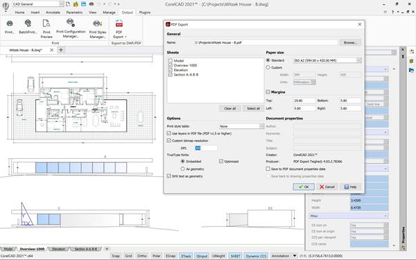 CorelCAD 2021 for Windows - PDF Export