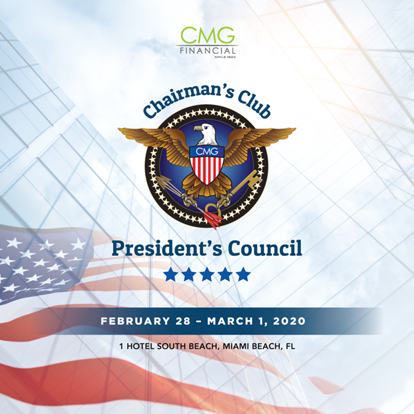 CMG Financial 2019 Chairman's Club and President's Council