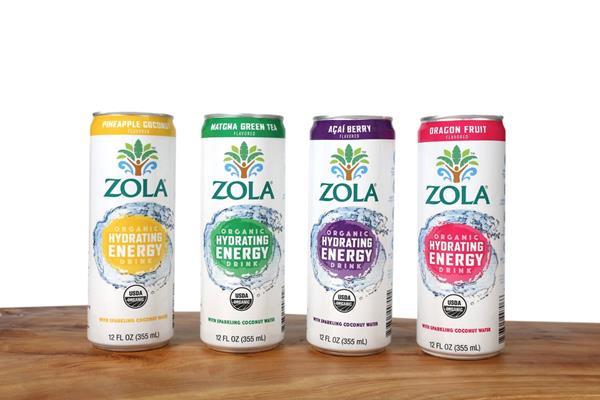 New Zola Organic Hydrating Energy Drink Line
