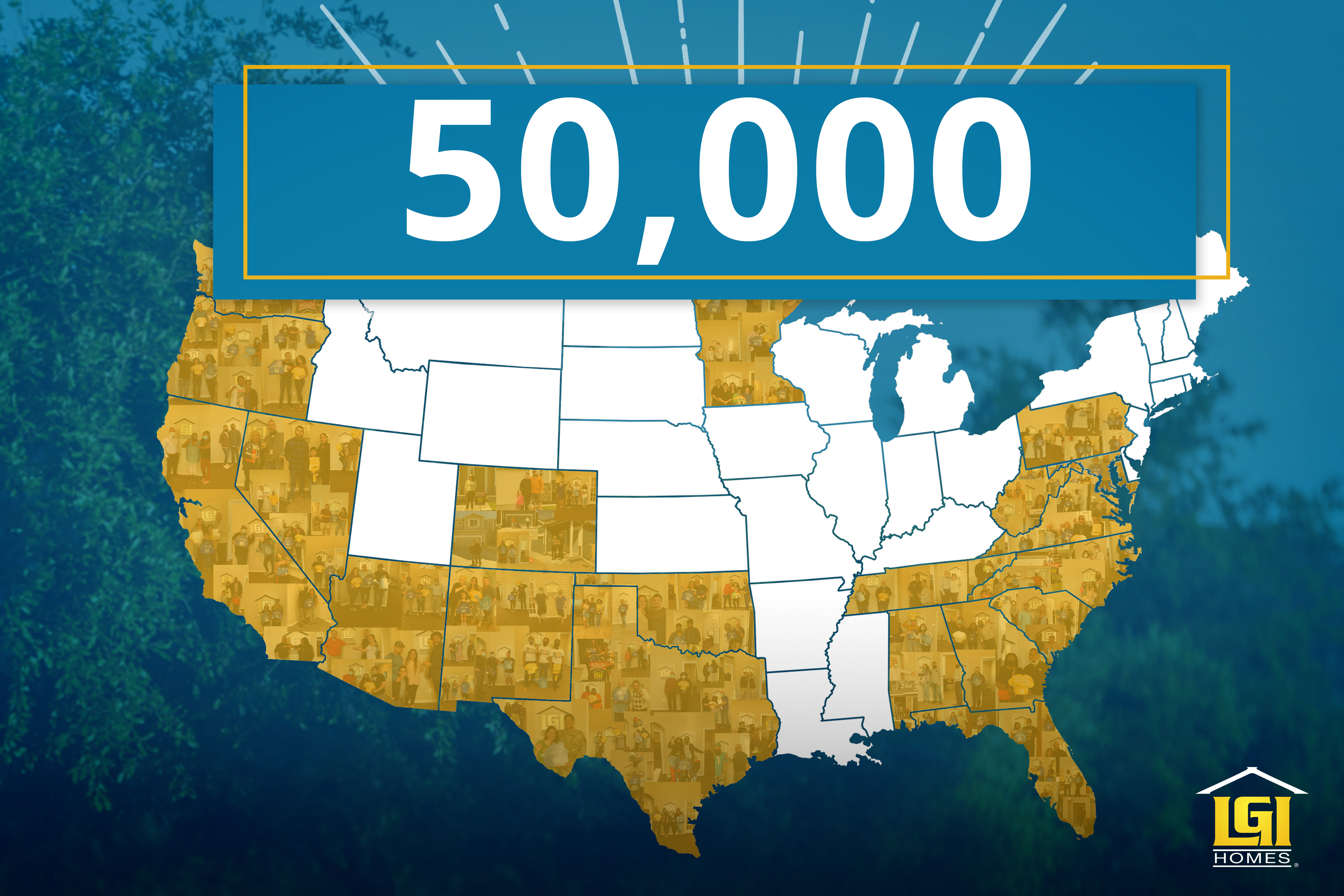 LGI Homes Achieves Significant Milestone of 50,000th Home Closing Since Inception