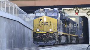 FIRST TRAIN RUNS THROUGH NEW VIRGINIA AVENUE TUNNEL
