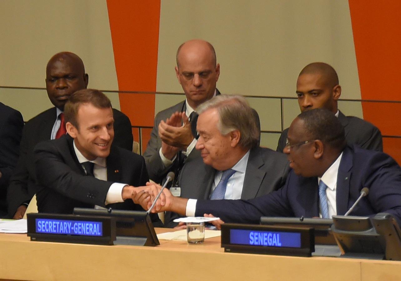Macron Guterres Sall