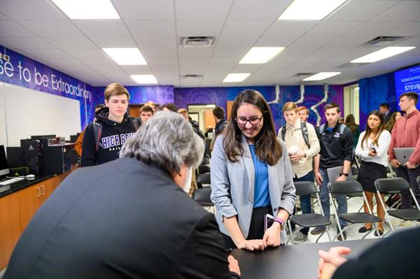 Apple Co-Founder and High Point University's Innovator in Residence Steve Wozniak spent the day mentoring High Point University students.