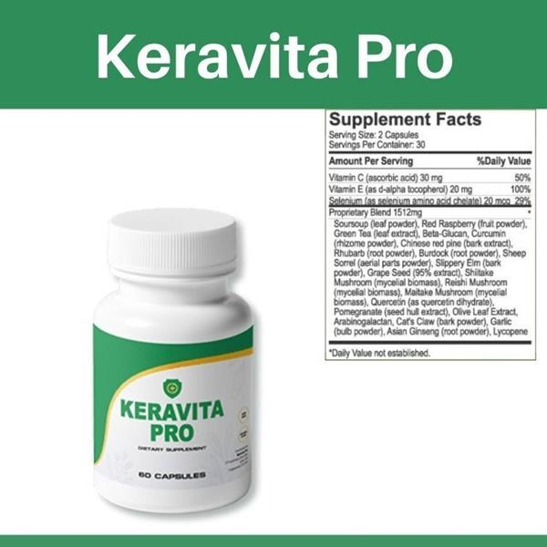 Keravita Pro ingredients by Richard Parker & Benjamin Jones supplement's ingredients work for nail fungal infection and not only.