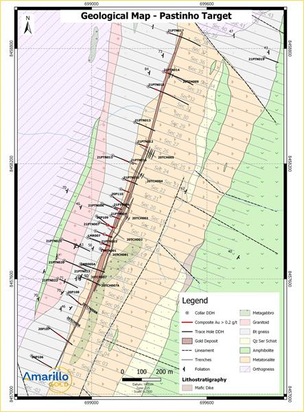 FIGURE 2: GEOLOGY OF THE PASTINHO GOLD DEPOSIT