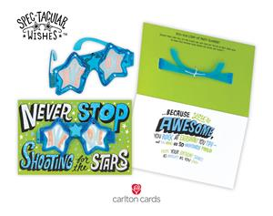 Brighten their birthday with new spec tacular wishes cards from new spec tacular wishes birthday cards from carlton cards pair bold lettering designs with wearable light up party glasses for the ultimate card and gift m4hsunfo