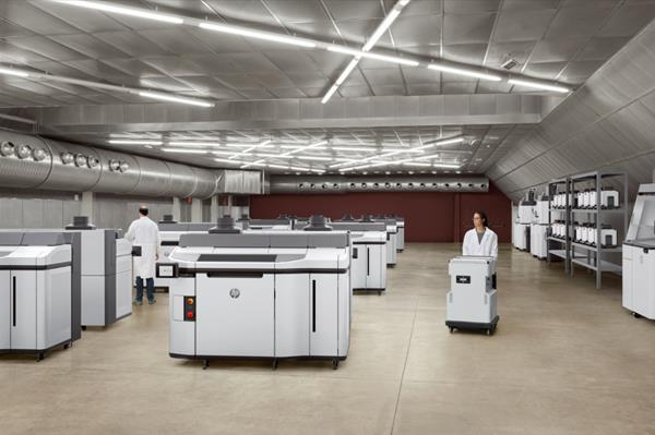 HP Jet Fusion 5200 3D printing solution factory