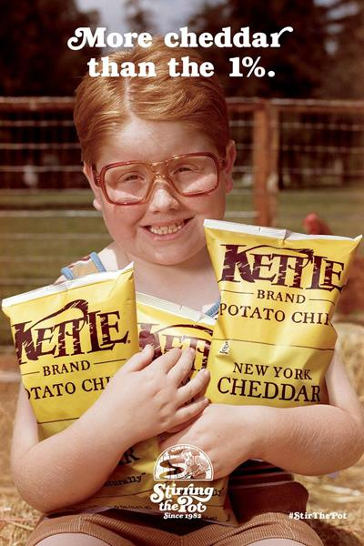 """Kettle Brand """"More Cheddar than the 1%"""" by Duncan Channon"""