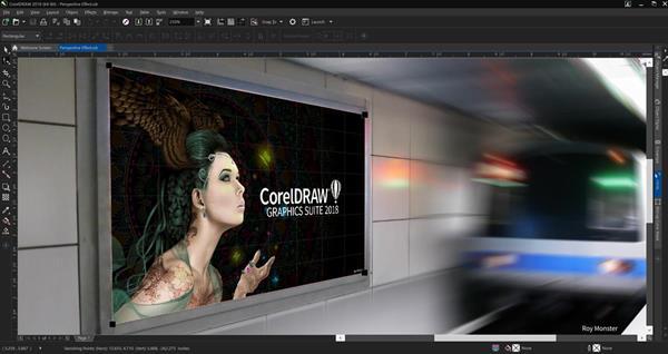 CorelDRAW Graphics Suite 2018 - Perspective Effect