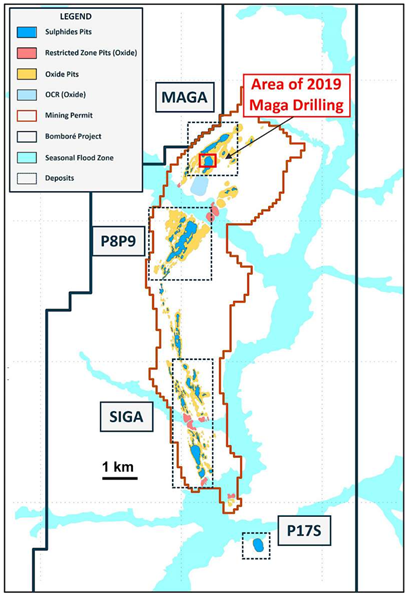 Area of 2019 Maga Drilling