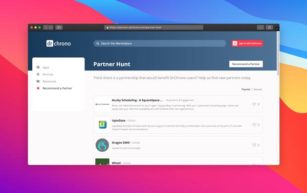 DrChrono Partner Hunt