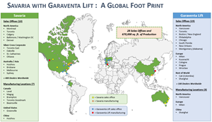 Savaria with Garaventa Lift  A Global Foot Print