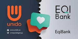 EQIBank Partners with Enterprise Blockchain Platform Unido