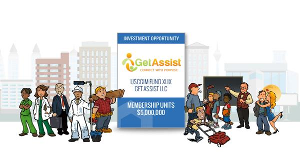 """US Capital Global Securities, an affiliate of US Capital Global, is offering to accredited investors a $5 million investment opportunity in GetAssist, Inc. (""""GetAssist"""").  GetAssist is the only online community that connects you to the people who matter most, your community, neighbors, friends and the Business Community who, much like you, are looking for simple ways to truly make life a little bit easier for themselves, their families and their communities each and every day."""