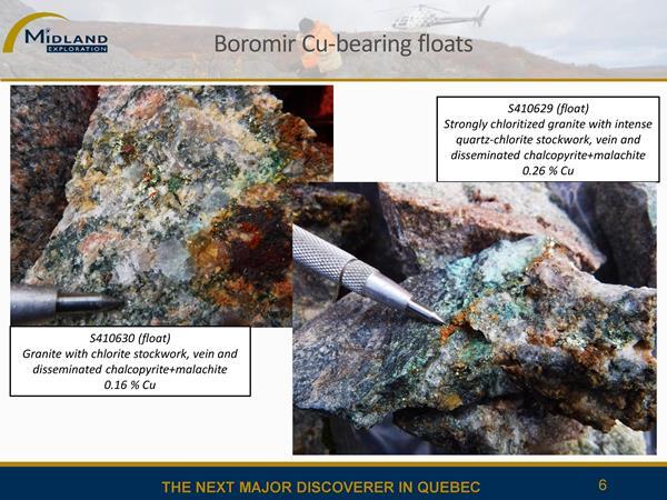 Blocs cuprifères du champ Boromir