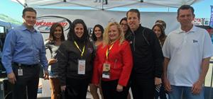 Joined by Miller Lite brand ambassadors, the following TEAM Coalition member representatives congratulated the Richmond International Raceway winner of the Responsibility Has Its Rewards sweepstakes.