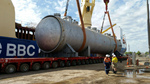 Figure 5: Sunrise Autoclaves Being Unloaded at Port Pirie