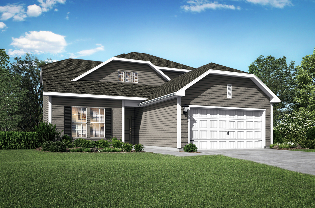 The Roanoke plan at Quarry Oaks at Cambrian Hills by LGI Homes offers 4 bedrooms, 2.5 baths and spacious entertaining areas.