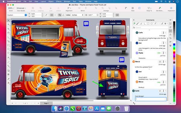 CorelDRAW Graphics Suite 2021 for Mac - Live Comments