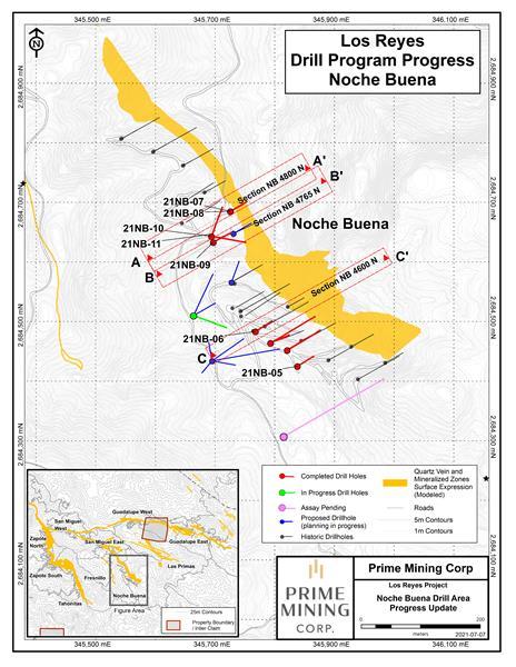 Figure 2 Noche Buena Drill Progress Map FINAL July 7