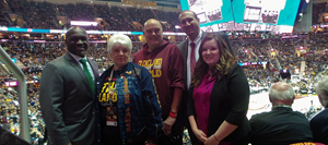 Cleveland Cavaliers Designated Driver for the Season recognized at The Finals Game 3