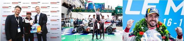Jan Denecke, Fernando Alonso, Benedikt von Dohnanyi at Le Mans (credit James Moy)