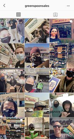 Recent postings made by Green Spoon on its Instagram account showing in-store initiatives (@greenspoonsales)